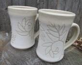 White Fern Mugs - Set of 2