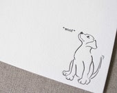 Letterpress Dog Cards - Set of 6