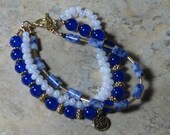 Blue Jade Beaded Bracelet