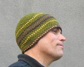 crochet cotton beanie/ autumn tones