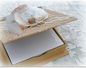 Nautical Notepad Holder - Sand and Seashells