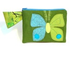 moth butterfly bag pouch clutch organizer FREE US SHIPPING