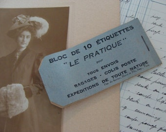 Antique French Luggage Tags Booklet