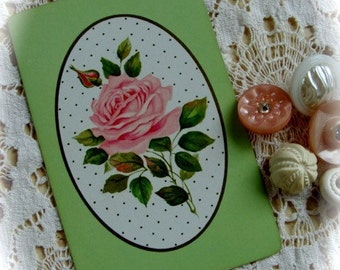 Stunning Vintage  Shabby Chic Pink Roses