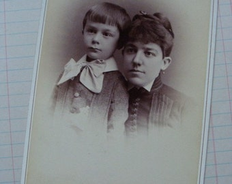 Antique Mother and child Photo Cabinet Card