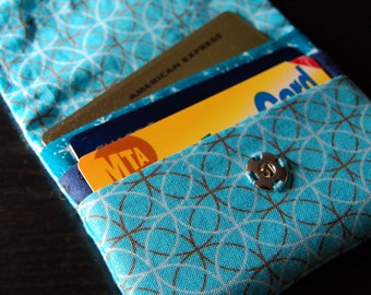 Mini Card Case - Aqua