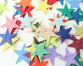 Seed Paper Stars - diy birthday party favors, creative invitations