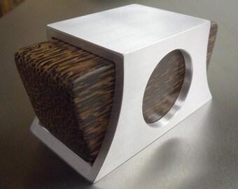 Black Palm and Aluminum Engagement Ring Box