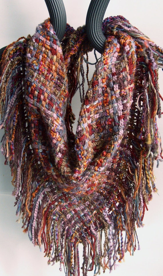 Handwoven Scarf Triangle Woven Shawl Cowl