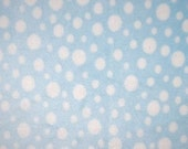 WINTER SALE - Minky - Multi Dot in Baby Blue - 1 Yard - from Shannon Fabrics