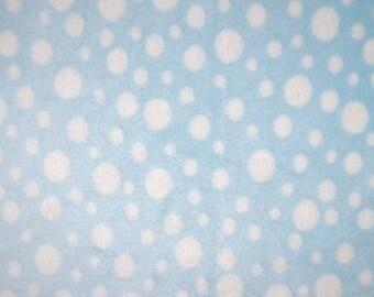 FALL SALE - Minky - Multi Dot in Baby Blue - 1 Yard - from Shannon Fabrics