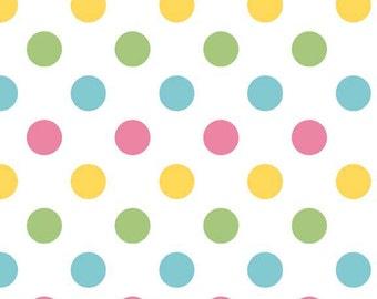 FALL SALE - 1 1/2 Yards - Medium Dots in Girl - sku C360 03 - Riley Blake Designs