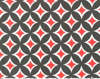 SUMMER SALE - 5 1/4 Yards -Tweedle Dee Tile in Clementine - Cx5513 - Michael Miller House Designs