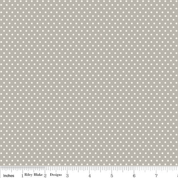 Willow - Dot in Gray - sku C3076 - by My Mind's Eye for Riley Blake Designs - 1 Yard