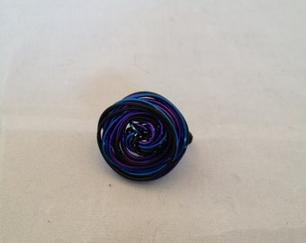 Twisted Wire Circle Wrap Ring Size 9