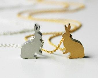Mini Bunny Necklace - Silver