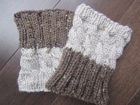 2 IN 1 REVERSIBLE Hand Knitted Boot Cuffs 2 by Frenchstyle1