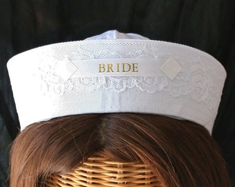 BRIDE Sailor Hat perfect for Nautical Bachelorette Party or Bridal Shower - Style #100L