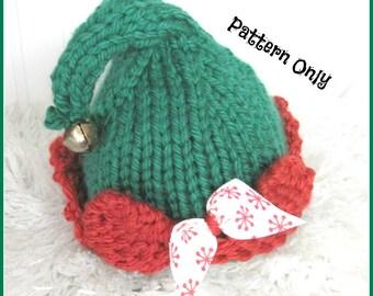 Elf Hat Knitting Pattern  Sized Newborn, Baby, Child and Adult