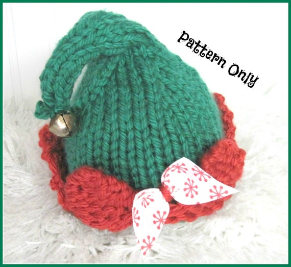 Baby Elf Knitting Pattern : Elf Hat Knitting Pattern Sized Newborn Baby Child by ...