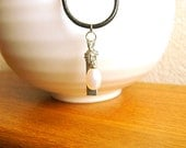 Japanese Typewriter Key Jewelry  Vintage Kanji Necklace Unborn Child Embryo Fetus