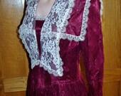 GUNNE Sax Dress Red Valentines day dress Satin & Lace designer frock size M