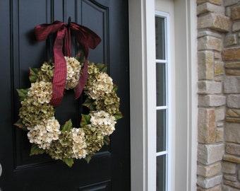 Holiday Wreaths, Christmas Wreath, Christmas Hydrangeas, Front Door Wreaths, Holiday Home Decor