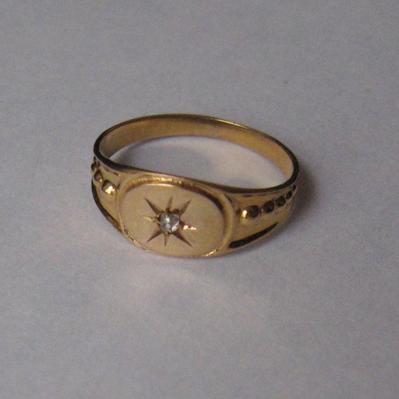 Vintage Baby Ring 10k Gold With Tiny Old Mine By