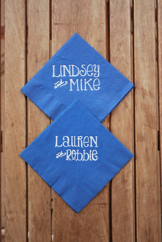 Whimsical Names Personalized Paper Cocktail Napkins