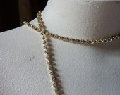 Rhinestone Chain SS12 PP24 Preciosa FULL Yard in Clear/Raw  for Tribal Fusion, Jewelry or Costume Design