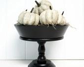 White Halloween Pumpkins Crackled Glazed Aged Shabby  by speckleddog on Etsy - tt team