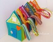 Waldorf Spielzeug alle natürlichen Süße kleine Reisen Gnome Einfamilienhaus - Türkis-