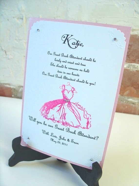 guest book attendant invitation 5x7 will by scenicwoodspaperie