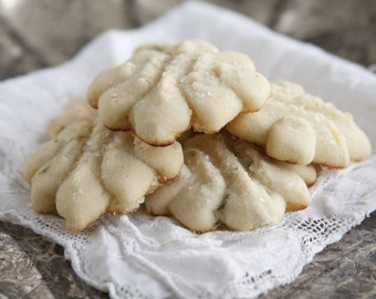 Lemon Thyme Butter Cookies - 3 dozen homemade cookies