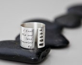 Stepping Stones Ring- Custom Personalized Words or Quote