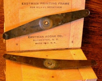 vintage photo supply ...  EASTMAN KODAK PRINTING frame wood and metal darkroom supply  ...