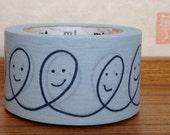 mt  washi masking tape - smile -  designer mt x mina perhonen - light blue
