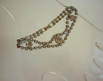 40s 50s Vintage Rhinestone Bracelet