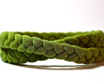 Fabric Bracelet. Braided Bracelet. Skinny Braid T-Shirt Bracelet. Wrap Bracelet. Multicolor cotton jersey Fall Fashion Casual Style