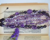 Multi-strand Glass Beaded and Pearl Necklace