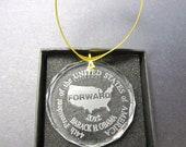 Obama Christmas ornament 2012 glass FORWARD