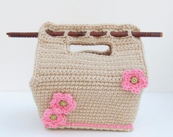 PDF Crochet Pattern - Bento-Style Carrier Lunch Tote