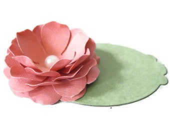 Paper Flower Place Cards-Set of Ten
