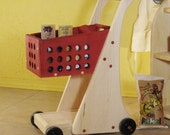 Toy Food and Shopping Cart  with Doll Seat