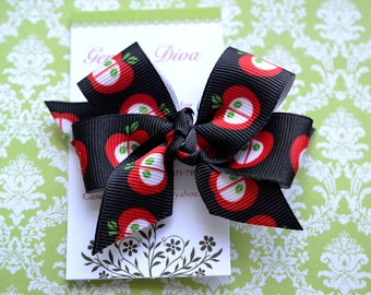 An Apple A Day Classic Diva Bow