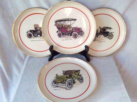 Vintage Hyalyn Porcelain Car Plates