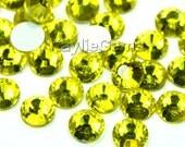 Crystal Rhinestone Flat Back Non- Hot Fix Glue On SS6/2mm, SS8/2.4mm, SS10/2.8mm, SS12/3mm, SS16/4mm - 72pcs -  Citrine - Pick Size