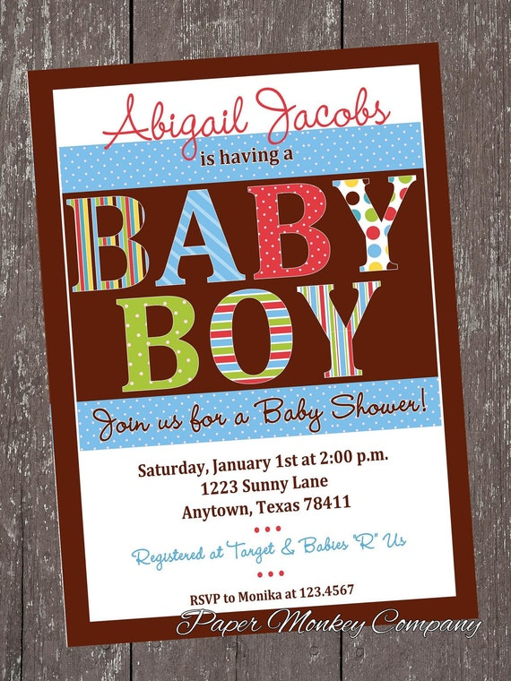 it 39 s a boy baby shower invitations by pmcinvitations on etsy