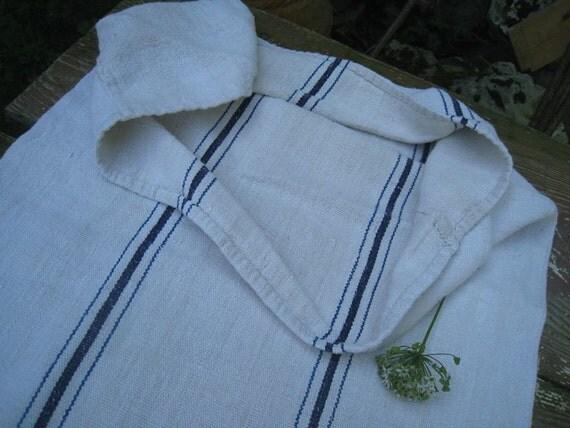 antique elegant grainsack NAVY BLUE  holiday feeling pillow cushion