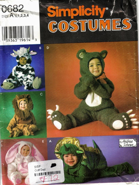 Simplicity 0682 Sewing Pattern - Toddler Halloween Costumes